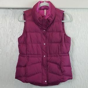 OLD NAVY fuchsia puffer vest